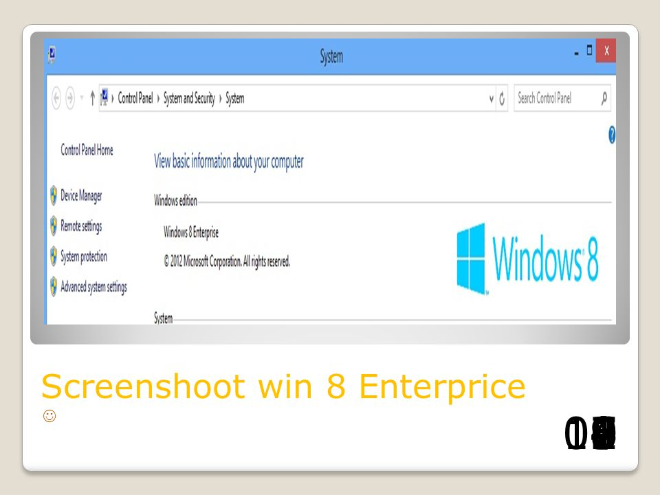 Screenshoot win 8 Enterprice
