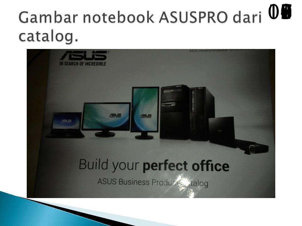 Gambar notebook ASUSPRO dari catalog.