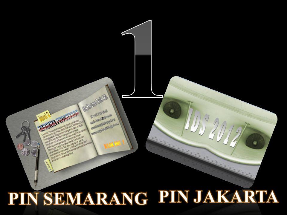 1 PIN JAKARTA PIN SEMARANG