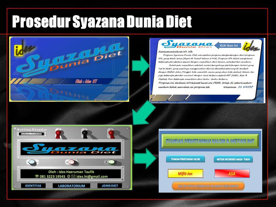 Prosedur Syazana Dunia Diet