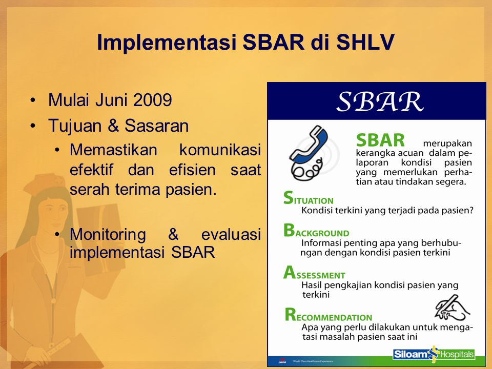 Implementasi SBAR di SHLV