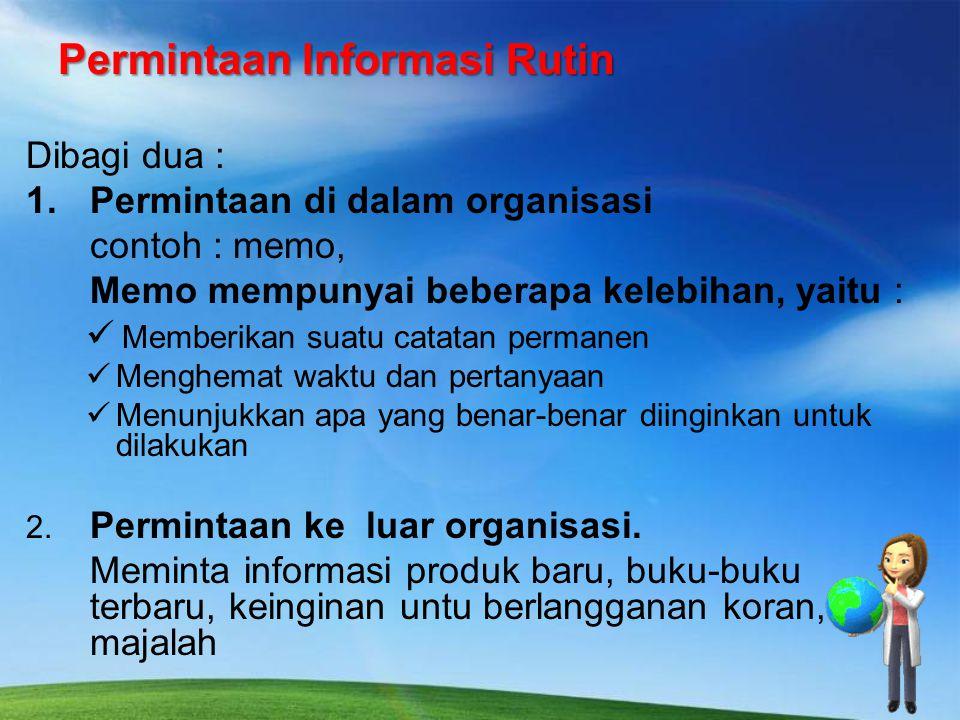 Permintaan Informasi Rutin