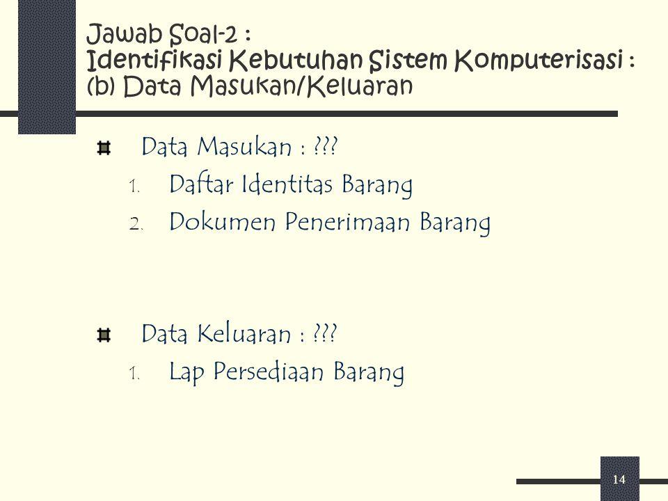 Daftar Identitas Barang Dokumen Penerimaan Barang