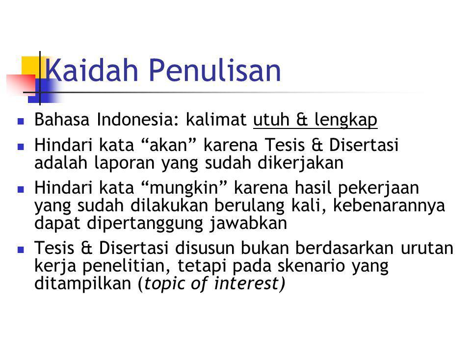 Kaidah Penulisan Bahasa Indonesia: kalimat utuh & lengkap
