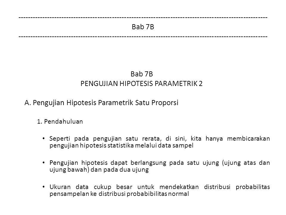 PENGUJIAN HIPOTESIS PARAMETRIK 2