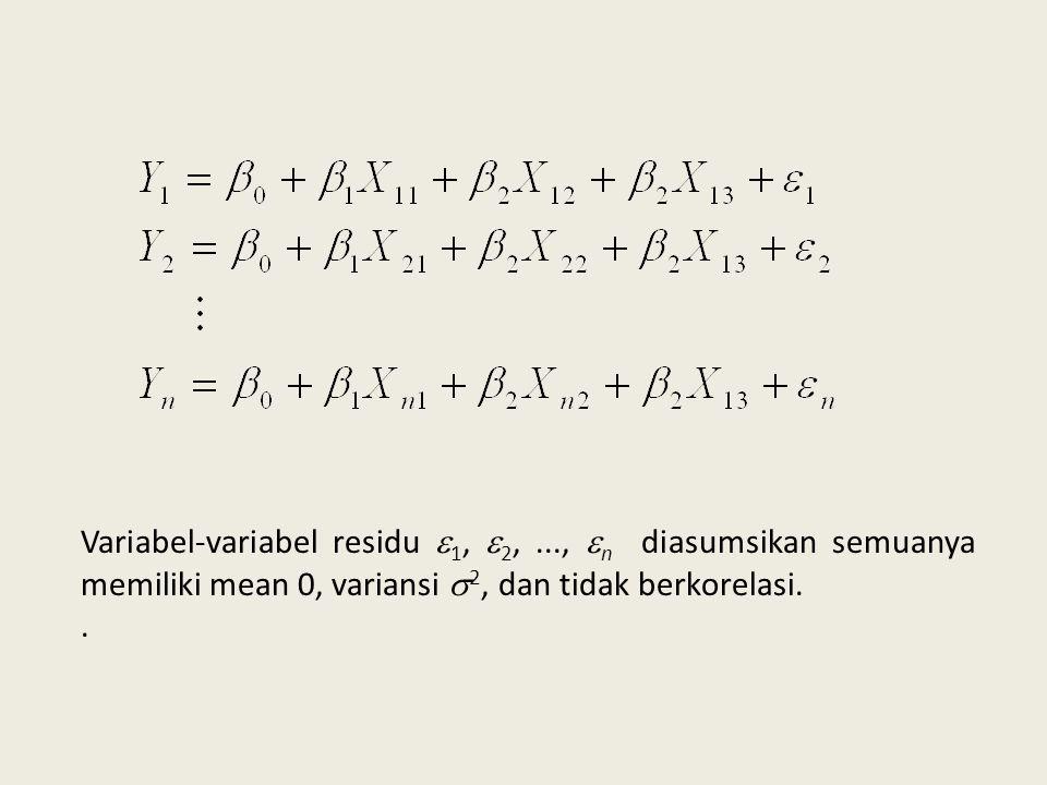 Variabel-variabel residu 1, 2,