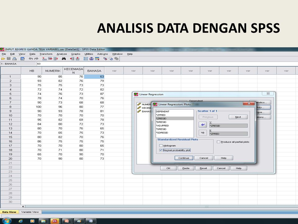 ANALISIS DATA DENGAN SPSS