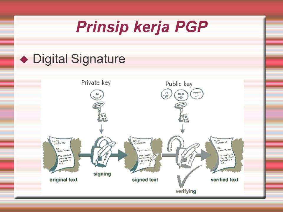 Prinsip kerja PGP Digital Signature