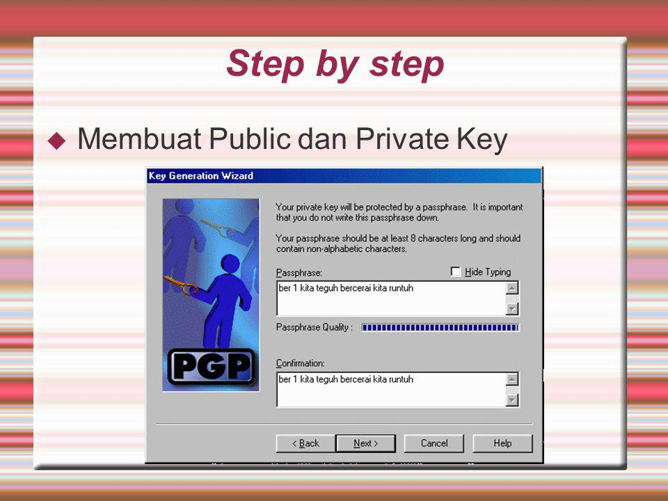 Step by step Membuat Public dan Private Key