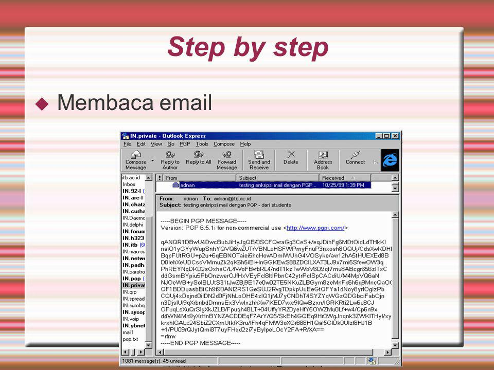 Step by step Membaca email