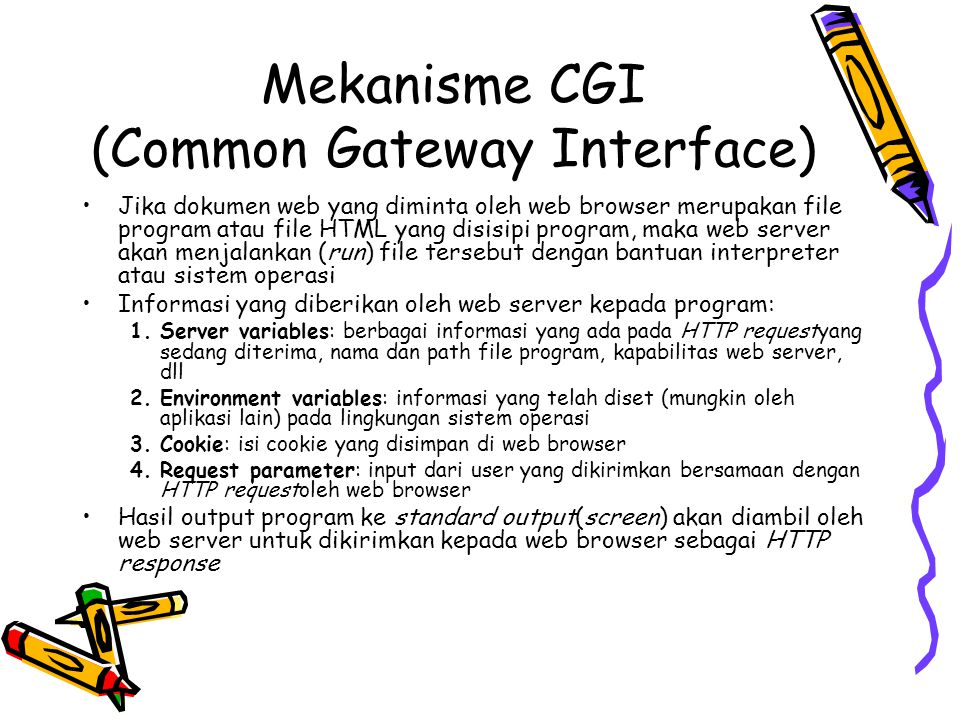 Mekanisme CGI (Common Gateway Interface)