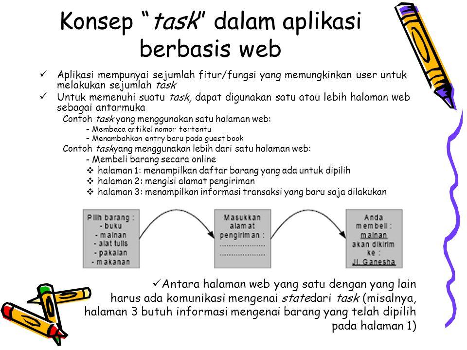 Konsep task dalam aplikasi berbasis web