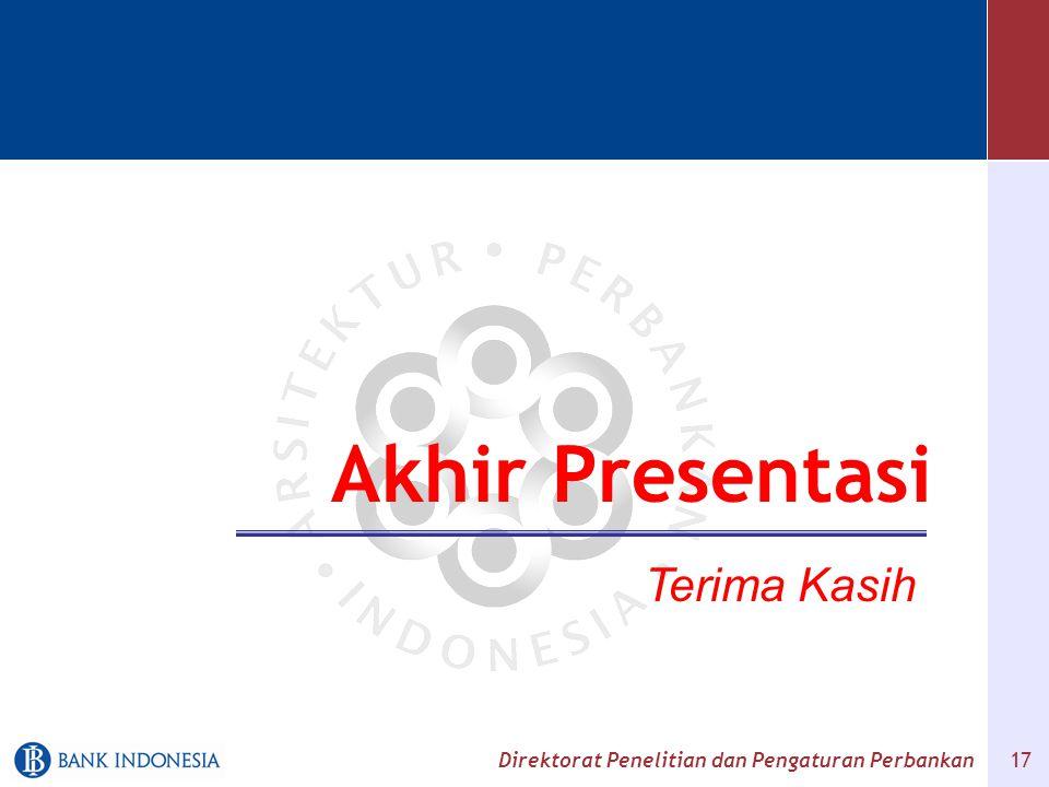 Akhir Presentasi Terima Kasih