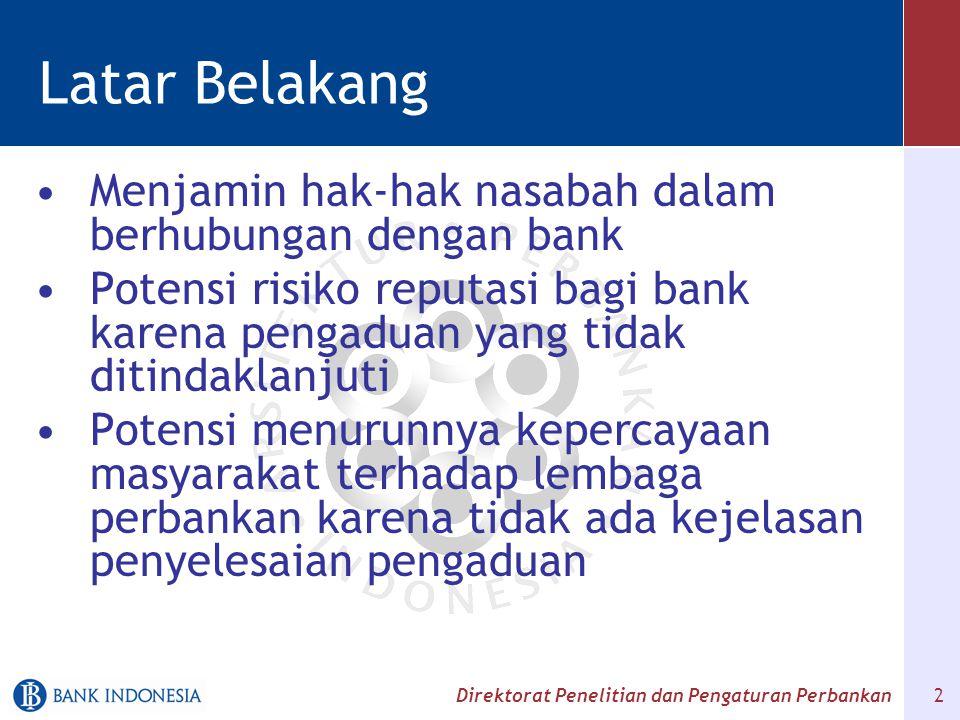 Latar Belakang Menjamin hak-hak nasabah dalam berhubungan dengan bank