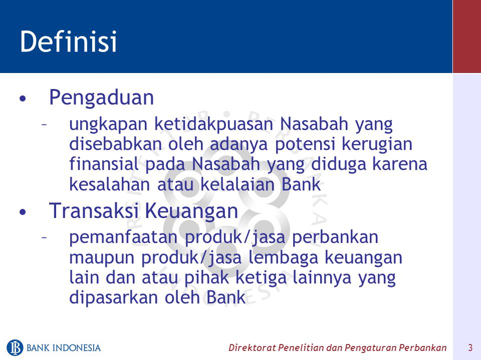 Definisi Pengaduan Transaksi Keuangan