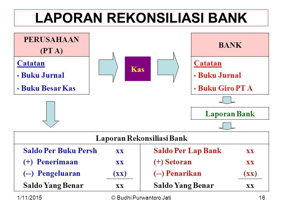 LAPORAN REKONSILIASI BANK Laporan Rekonsiliasi Bank