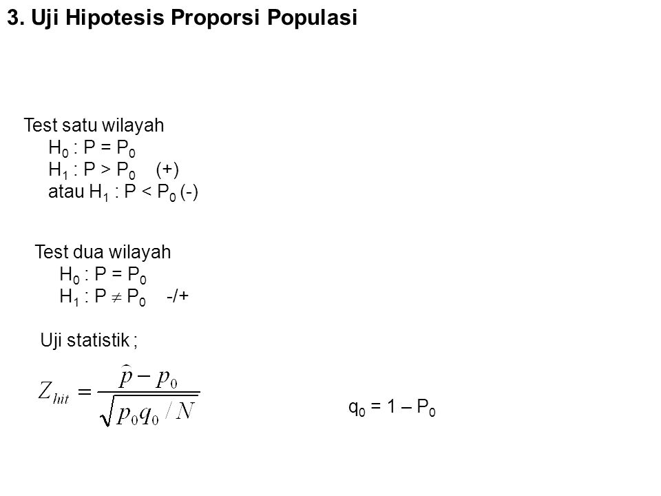3. Uji Hipotesis Proporsi Populasi