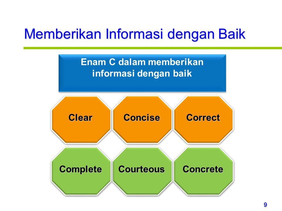 Enam C dalam memberikan informasi dengan baik