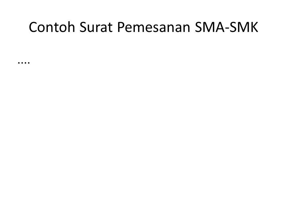 Contoh Surat Pemesanan SMA-SMK