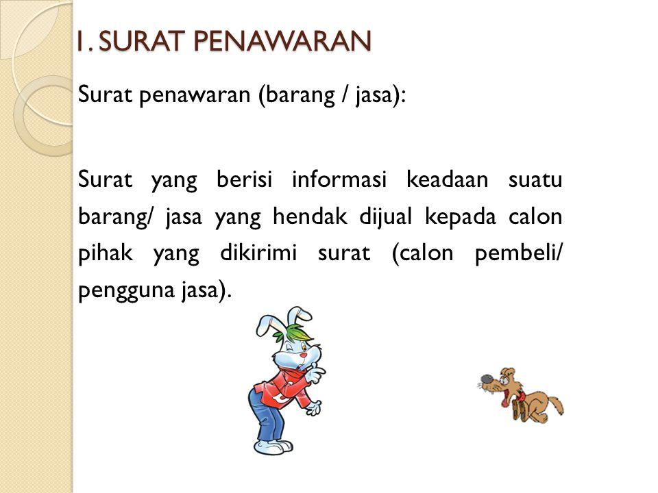 1. SURAT PENAWARAN