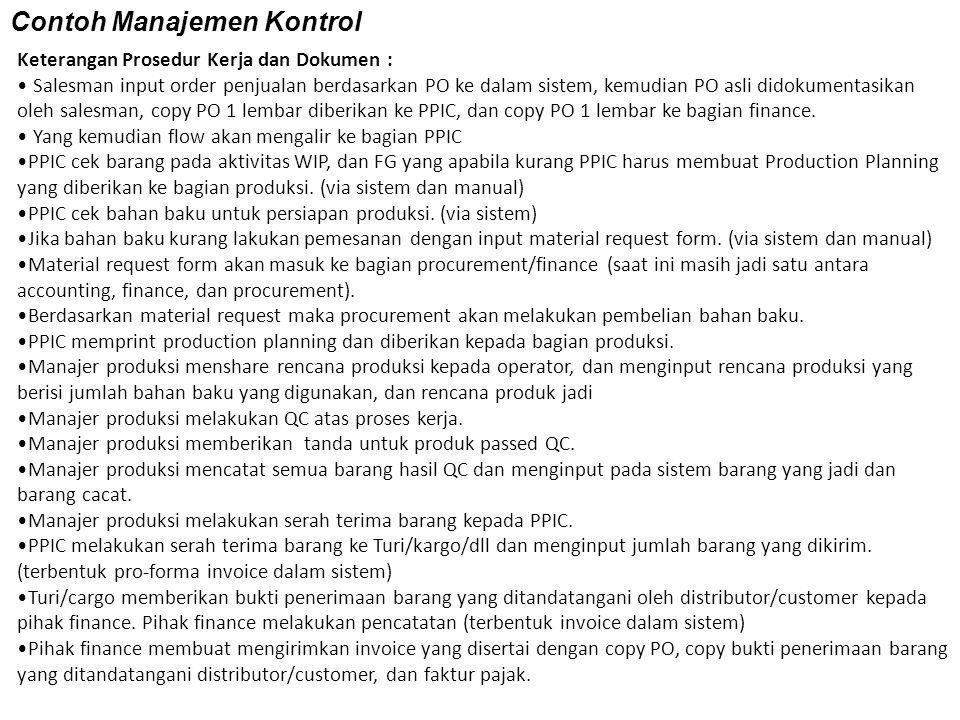 Contoh Manajemen Kontrol