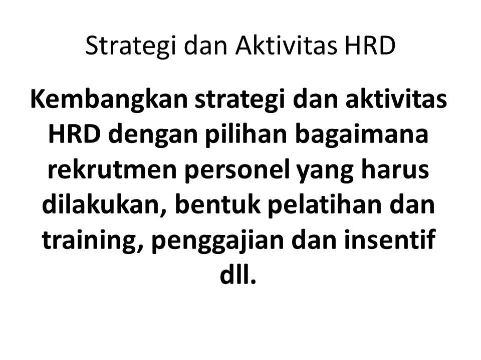 Strategi dan Aktivitas HRD