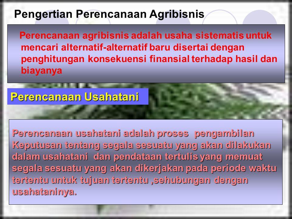 Pengertian Perencanaan Agribisnis