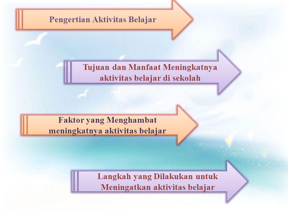 Pengertian Aktivitas Belajar