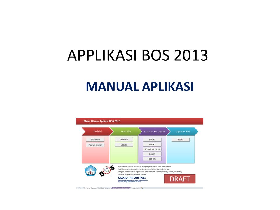 APPLIKASI BOS 2013 MANUAL APLIKASI