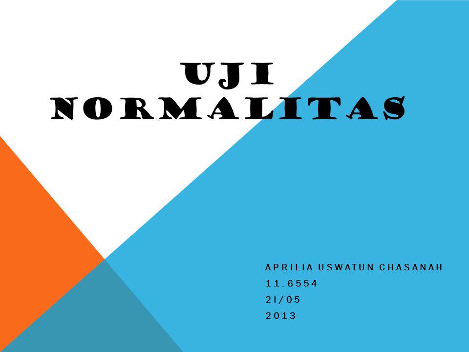 Aprilia uswatun chasanah 11.6554 2I/05 2013