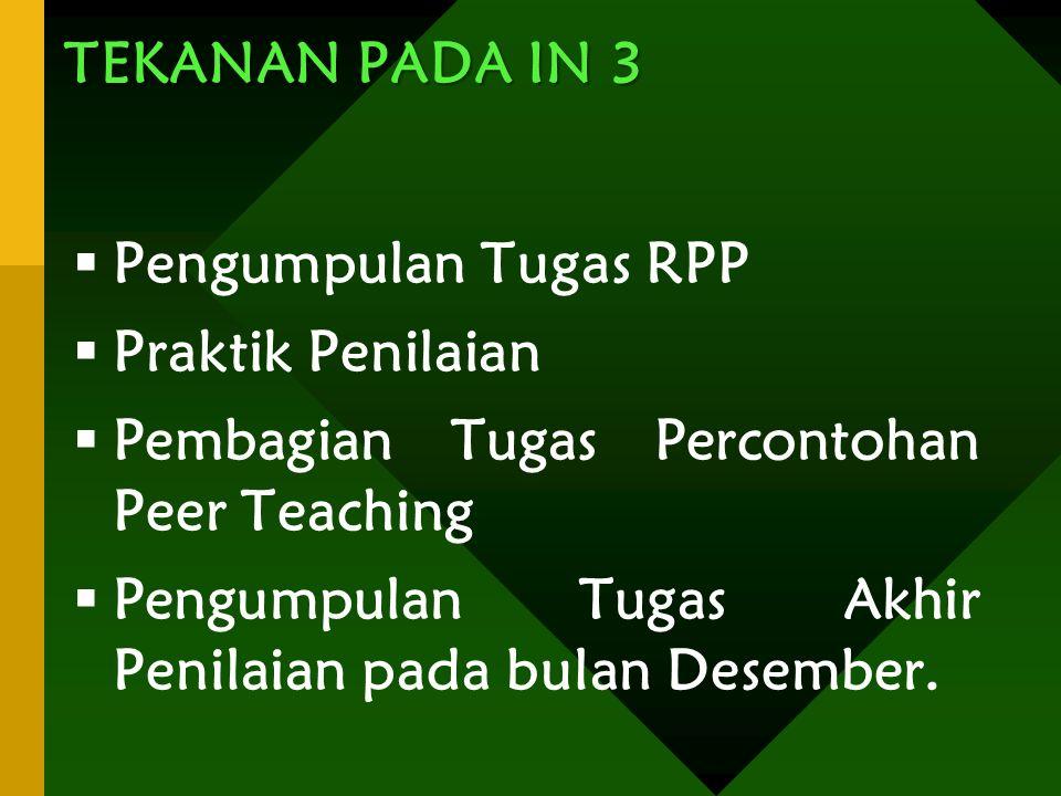 Pembagian Tugas Percontohan Peer Teaching