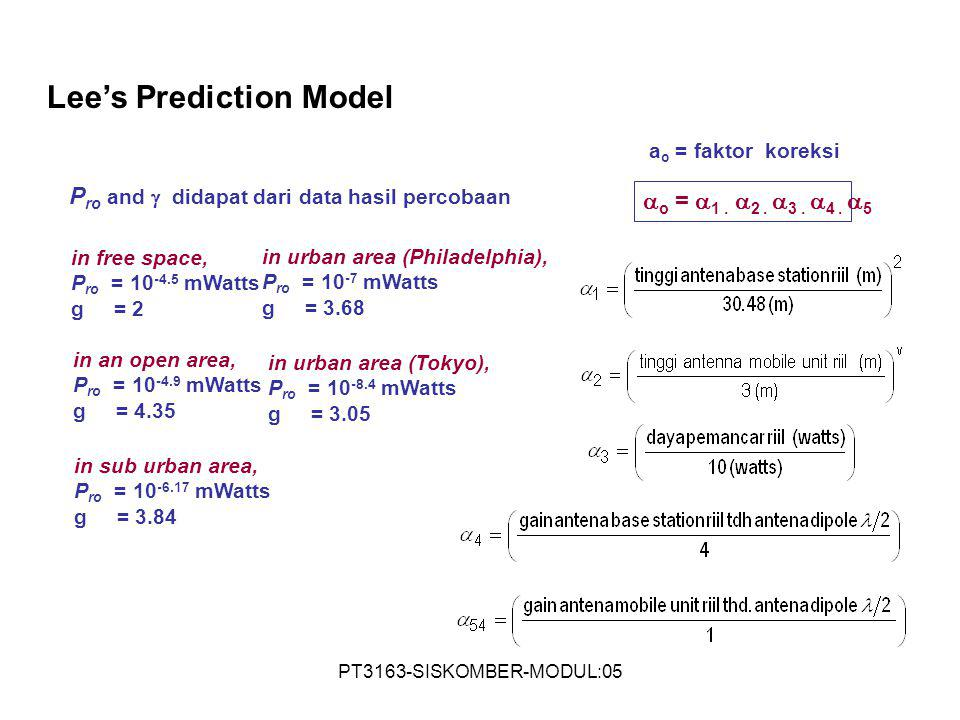Lee's Prediction Model