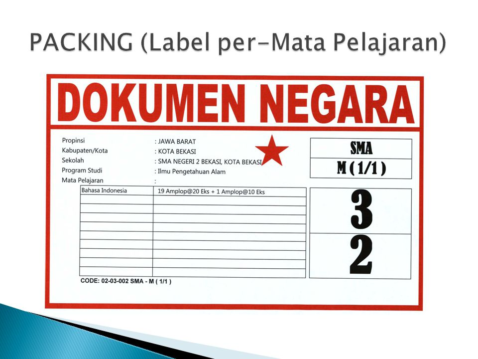 PACKING (Label per-Mata Pelajaran)