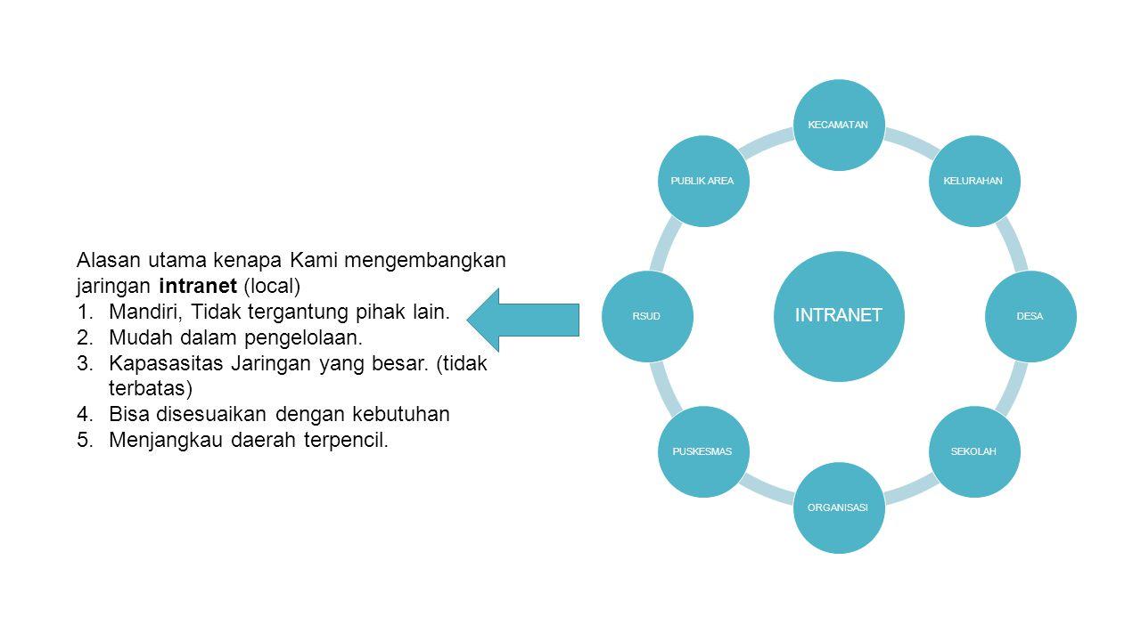 Alasan utama kenapa Kami mengembangkan jaringan intranet (local)