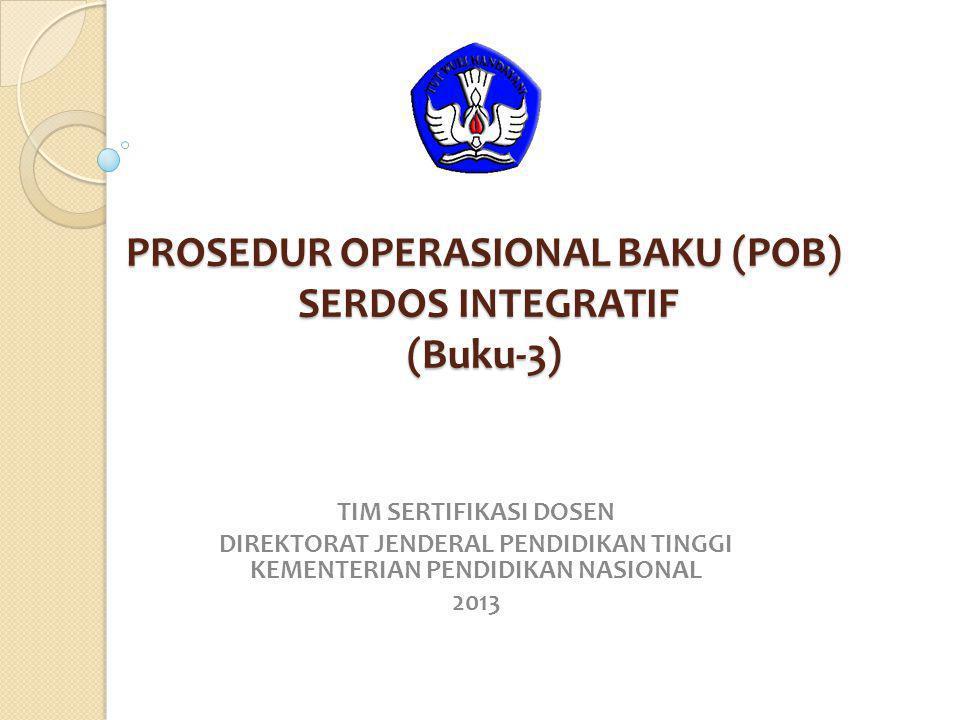 PROSEDUR OPERASIONAL BAKU (POB) SERDOS INTEGRATIF (Buku-3)