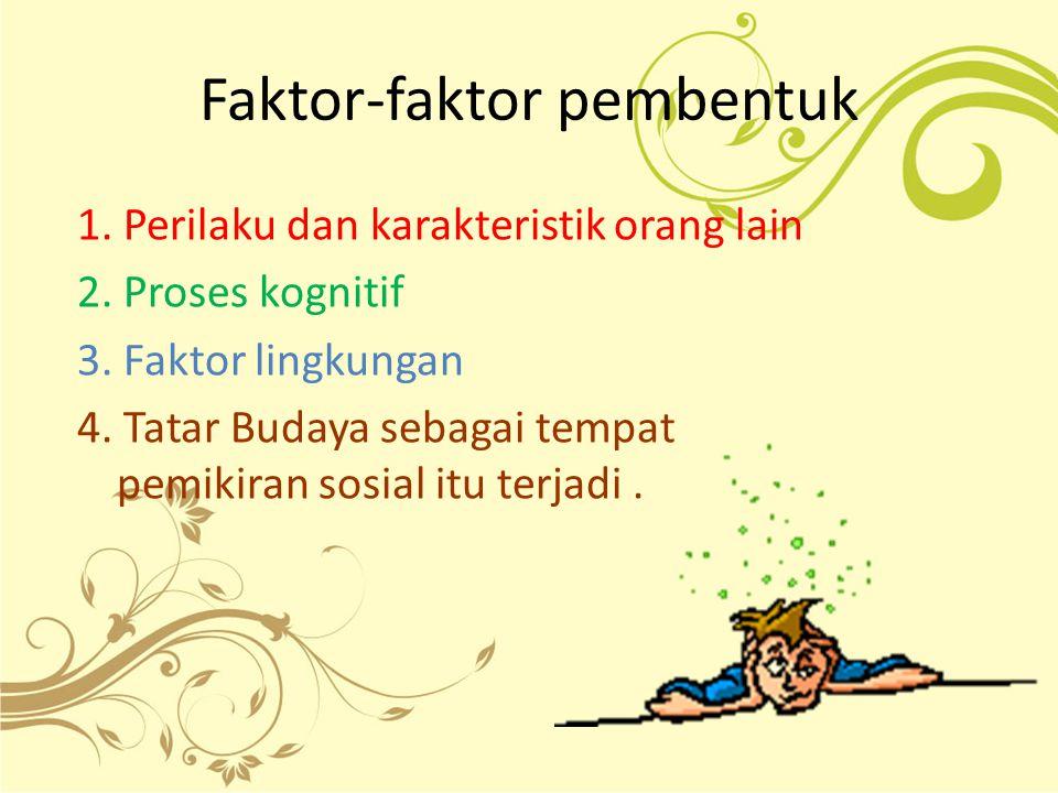 Faktor-faktor pembentuk