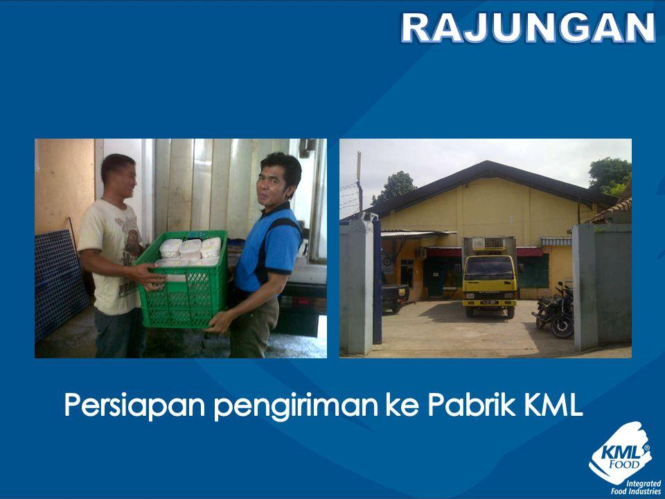Persiapan pengiriman ke Pabrik KML