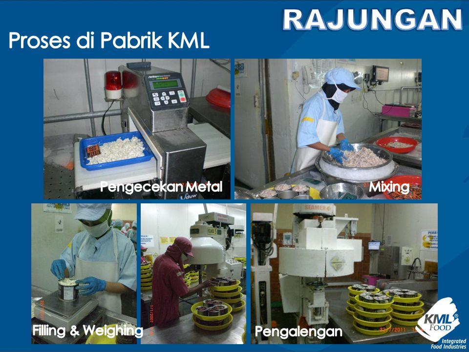 RAJUNGAN Proses di Pabrik KML Pengecekan Metal Mixing