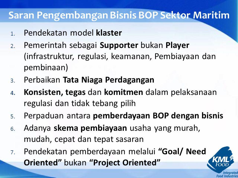 Saran Pengembangan Bisnis BOP Sektor Maritim