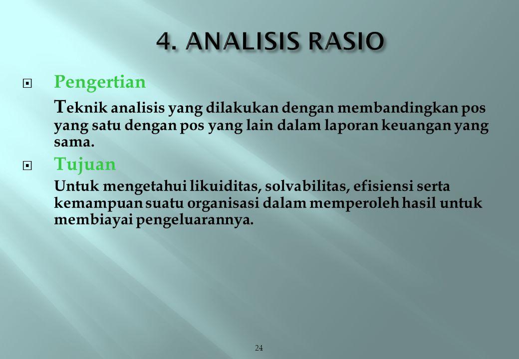 4. ANALISIS RASIO Pengertian