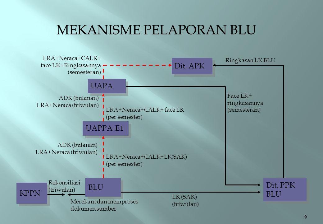 MEKANISME PELAPORAN BLU