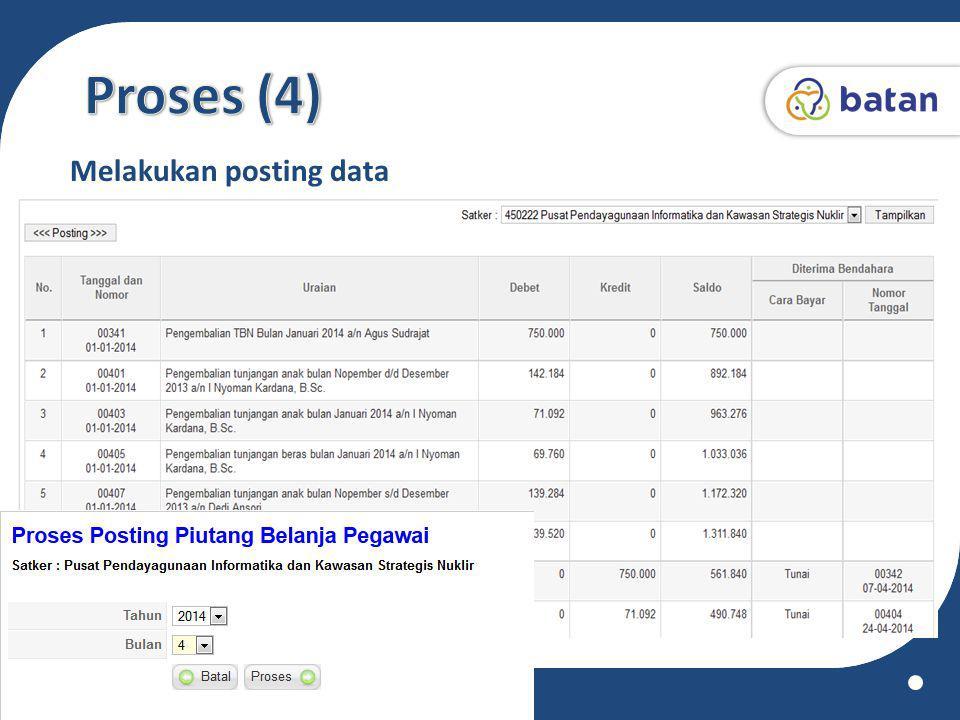 Proses (4) Melakukan posting data www.batan.go.id