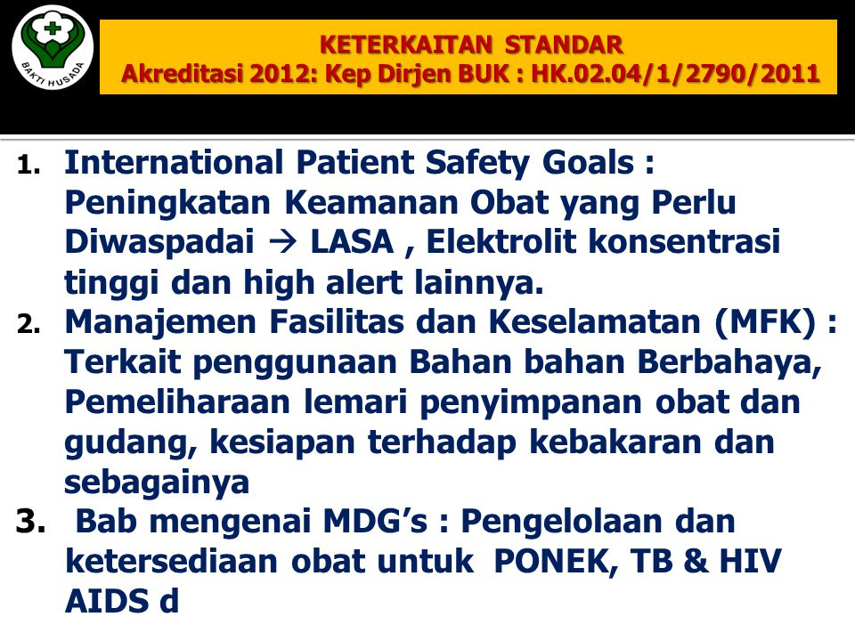 International Patient Safety Goals :