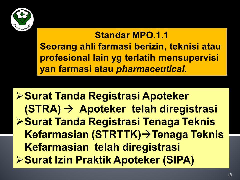 Surat Tanda Registrasi Apoteker (STRA)  Apoteker telah diregistrasi