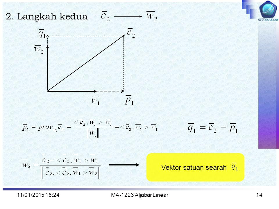 2. Langkah kedua Vektor satuan searah 08/04/2017 2:13