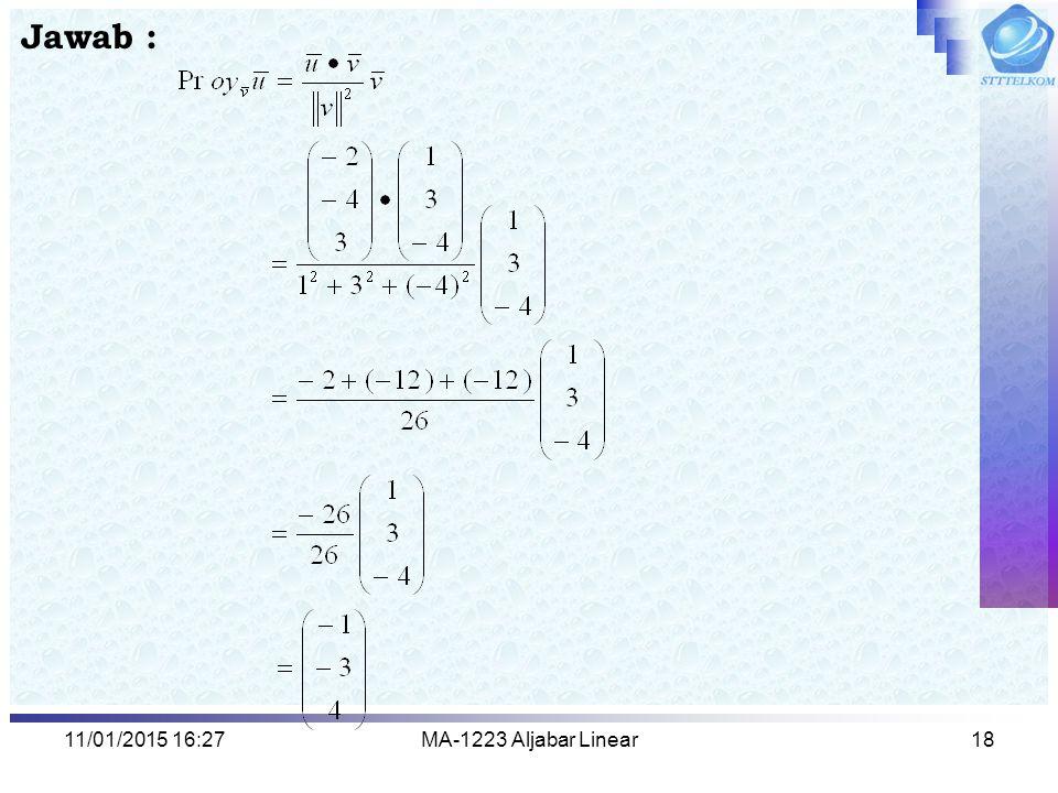 Jawab : 08/04/2017 2:13 MA-1223 Aljabar Linear