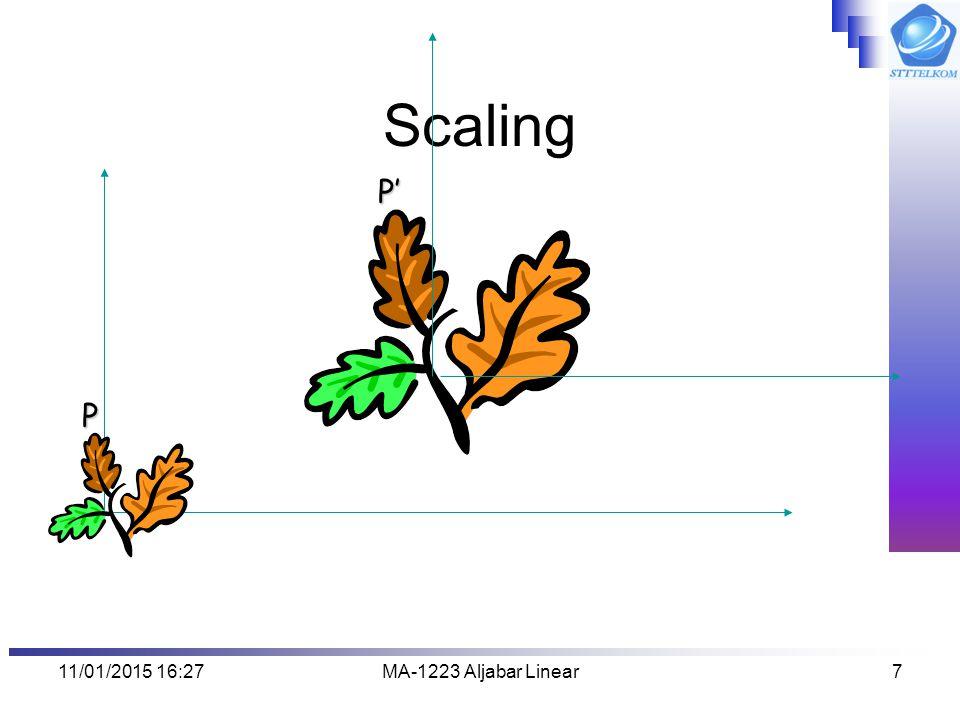 Scaling P' P 08/04/2017 2:13 MA-1223 Aljabar Linear