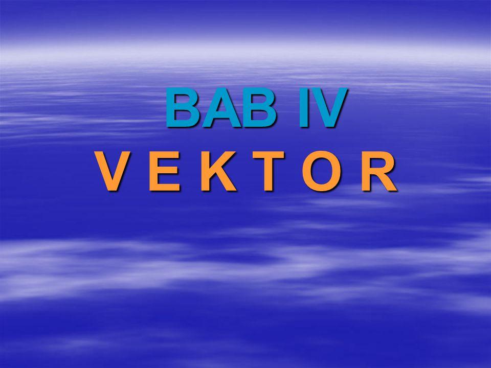 BAB IV V E K T O R