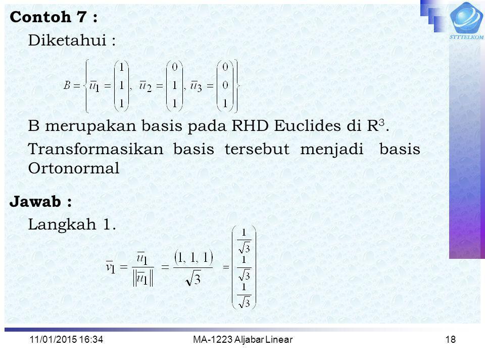 B merupakan basis pada RHD Euclides di R3.