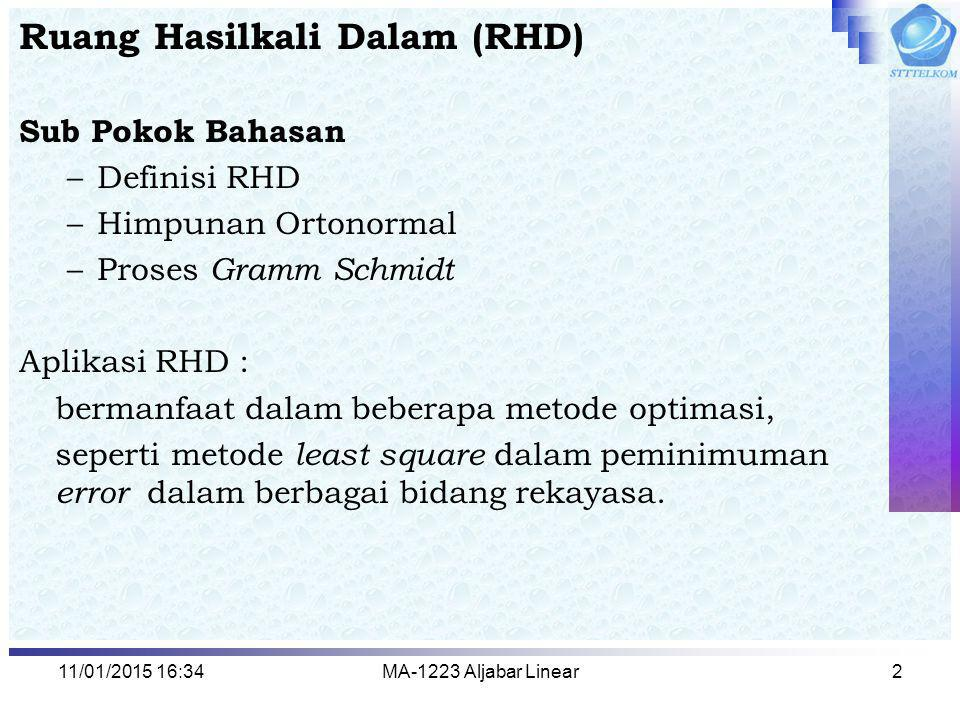 Ruang Hasilkali Dalam (RHD)